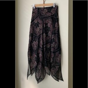 Vintage late 90s Betsy Johnson New York Silk Skirt